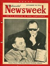CONTINENTAL Newsweek Sept 30, 1946: Göring and Doenitz awaiting Judgment