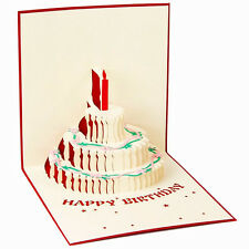 3D Handmade Pop Up Greeting Card Birthday Valentines Day Wedding Anniversary