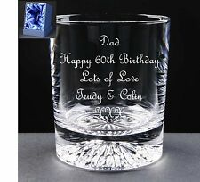 Personalised Whiskey Glass Birthday Gift,Satin Gift Box 58th 59th 60th 61st 62nd