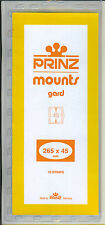 Package of 10 Prinz CLEAR Mounts 265 x 45