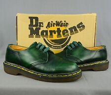 Vintage Women's UK4 US6 England Made Dr. Martens Green Leather Oxfords Shoes