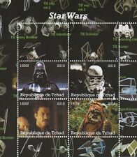 STAR WARS DARTH VADER EWOK LANDO REPUBLIQUE DU TCHAD 2015 MNH STAMP SHEETLET