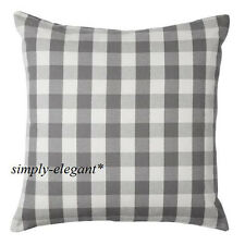 "New IKEA Cushion cover Pillow Cover Smanate 20 x 20"" White Gray Grey Check"