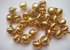 30 steel bells gold colour 10mm - findings beads charms