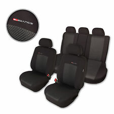 Car Seat Covers Protectors for Nissan Qashqai Black Gray Front & Rear