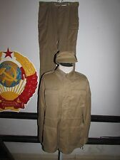 Russian army officer uniform afganka set summer jacket pants cap military ussr