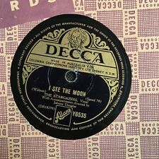 The Stargazers- I See The Moon/ Look At That Girl (w/Dennis Lotis) 78rpm 10-inch