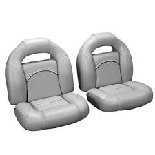 4 Piece Bass Boat Seats Gray, with Black Accent