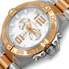 AQUASWISS Men's G74 2-Tone Day/Date Brand New Multifunction MSRP $995