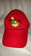 Mount Gay Rum Red Sailing Cap 2015 San Diego Nood NWOT