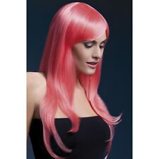Women's Fever Professional Model Sienna Coral Long Glamour Wig Fancy Dress Hen