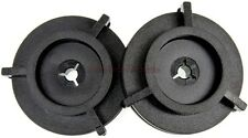 PAIR PLASTIC BLACK NAB HUB ADAPTERs for 10.5 VINTAGE REEL TO REEL TAPE RECORDERs