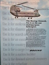 6/1984 PUB BOEING CHINOOK HELICOPTER HUBSCHRAUBER HELICOPTERE ORIGINAL AD