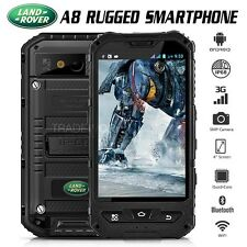 "Unlocked Land Rover A8 Black IP68 4"" Quad Core 3G Waterproof Rugged Smartphone"