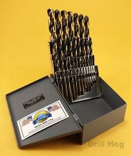 Drill Hog USA 29 Pc HI-Molybdenum Drill Bit Set MOLY M7 Drills Lifetime Warranty