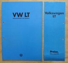VOLKSWAGEN LT COMMERCIALS Range 1976 German Mkt Brochure Prospekt + Price List