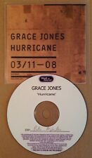 Grace Jones - Hurricane 9 Track UK Promo Cd Album Numbered Ultra Rare 2008