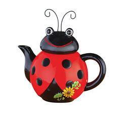 Collections Etc Loveable Ladybug Ceramic Kitchen Teapot