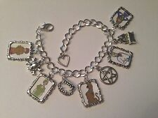 Silver Plated Charm Bracelet With Charms Scooby Doo