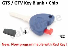 Uncut Key Blank for Vespa GTS, GTV, GT S 125, 200, 250 300 PLUS Transponder Chip