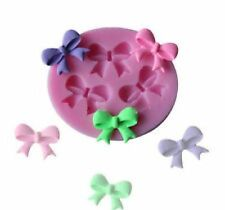 Bow Silicone Mold Chocolate Candy Ice Cube Cake Fondant Baby Party Favors