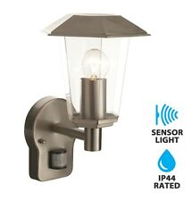Contemporary Stainless Steel Garden Wall Light  IP44 PIR Motion Sensor Outdoor
