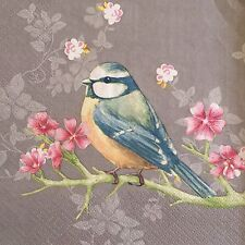 20 paper napkins decoupage scrapbooking or collection Servietten Birds Flowers
