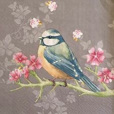 2 single paper napkins decoupage collection Servietten Serwetki Birds Flowers