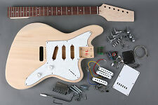 "NEW DIY ""Build Your Own"" Unfinished SOLID JAGUAR Electric Guitar Kit"