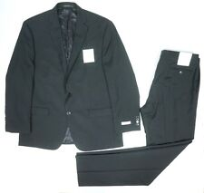 NEW CALVIN KLEIN 100% WOOL BLACK 2 BUTTON SLIM FIT SUIT SZ 44R BLAZER 38W PANTS
