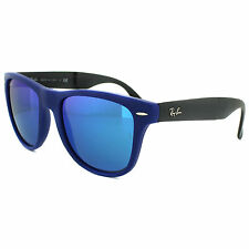 Ray-Ban Sunglasses Folding Wayfarer 4105 602017 Blue Blue Flash Mirror 54mm