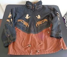 BOGNER Ski Snowboard JACKET Brown Southwestern Eagle Size LARGE Embroidered