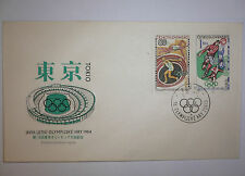 1964 Olympic Games Tokyo Original Czechoslovakia Athletes Football 2v on 1 FDC