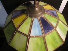 Stunning 1970's Leaded Shade Table Lamp