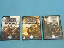 3x MEDAL OF HONOR game for PC *GC Spearhead & Breakthrough & Allied Assault