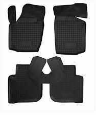 SKODA RAPID 2012- Rubber Car Floor Mats All Weather Alfombras Goma Carmats