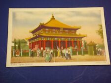 Lama Temple Jehol Chicago's 1934 Int'l Expo Vintage Colorful Postcard PC6