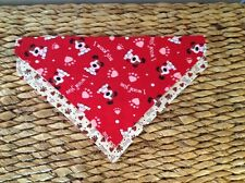 PERSONALIZED OVER THE COLLAR VALENTINES HEARTS PAWS RED DOG BANDANAS SIZE LARGE