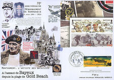 "Maxi FDC FRANCE-ISLE OF MAN ""70 years D-DAY Liberation Bayeux - GOLD BEACH"" 2014"