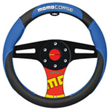 1 Momo Italy Corse Steering Wheel Cover Blue Black White Fits ALL MODELS 14.37""