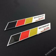 2pcs Motorsport Sline Auto Emblem Badge Sticker Fit For Audi Q A S RS TT Quattro