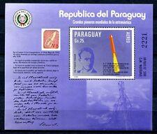 PARAGUAY 1984 Raumfahrt Space Rakete Schmiedl Block 401 ** MNH