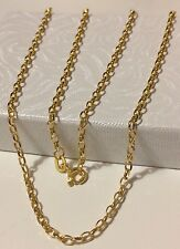 """18k Solid Yellow Gold Rollo Chain Necklace 18"""" 1.8 Grams"""