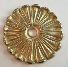 """3 1/4"""" solid Brass Ornate Flower Bobeche lamp part new raw unfinished brass"""