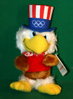1984 Olympics Sam The Olympic Eagle Plush Doll with Hang Tag - Wallace Berrie Co