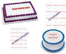 CUSTOM ORDER: Personalized Edible Image Cake Toppers for all Occasions