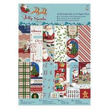 DOCRAFTS PAPERMANIA JOLLY SANTA CHRISTMAS ULTIMATE A4 DIE CUT & PAPER PACK