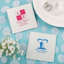 100 Personalized Printed Glass Coasters Wedding Shower Party Gift Favors