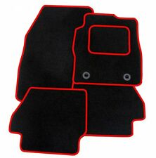 RENAULT CLIO 2013 ONWARDS TAILORED BLACK CAR MATS WITH RED TRIM