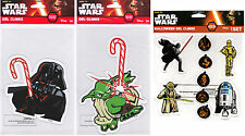 Star Wars Holiday Window Gel Clings ft. Darth Vader, Yoda, C-3PO, R2-D2 (DISNEY)